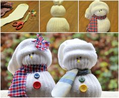 Who said you need snow to make a snowman? You could also make one using your socks! You might think this project ought to be called a sockman but that\'s taking the fun out of it. After all, a sock snowman still looks like a real snowman!  To make your o