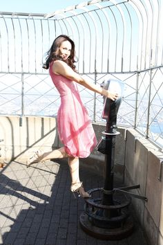 Our New York Spring Spectacular leading lady Laura Benanti in a feminine pink dress for spring.