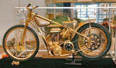Ivan Mauger's gold speedway bike.