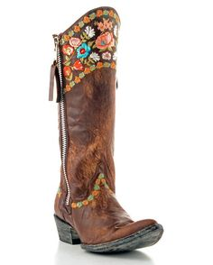 Old Gringo Women's Gaylarazz Boot in Brass/Multi.