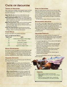 Homebrewing class Paladin Oath of Arcanism - Draft HB) A paladin subclass for all those magic lovers. Dungeons And Dragons Rules, Dungeons And Dragons Classes, Dnd Dragons, Dungeons And Dragons Characters, Dungeons And Dragons Homebrew, Dnd Characters, Arcane Knight, Dnd Paladin, Dnd Classes