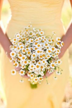 I will carry a daisies at my wedding. Happiest flowers in the world.