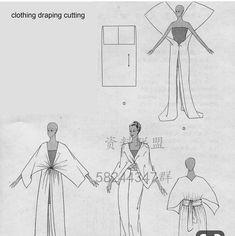 Very simple patterns Diy Clothing, Sewing Clothes, Dress Sewing Patterns, Clothing Patterns, Fashion Sewing, Diy Fashion, Origami Fashion, Fashion Details, Vintage Patterns