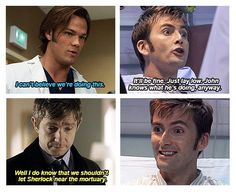 Superwholock - the Doctor takes his friends to investigate undercover at a suspicious hospital.