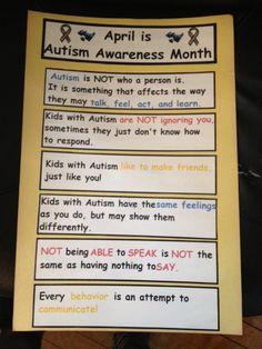 Autism Awareness Month Poster Freebie!