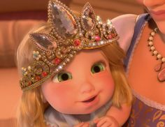 Baby Rapunzel from the Disney movie Tangled