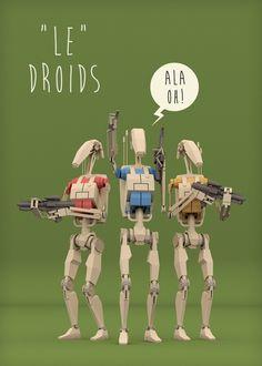 Le Droids by Rodrigo Oliveira, via Behance