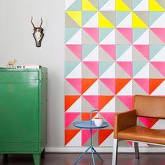 Amando esses trianglinhos coloridos.