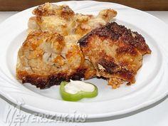 Karfiollal sült karaj recept