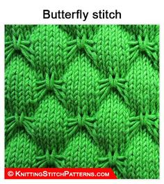 Knitting Stitch Patterns: Butterfly stitch. Super nice