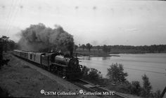 Along side the Ottawa River with the Pembroke local train. Ottawa Valley, Ottawa River, Islamic Messages, Steam Locomotive, Trains, The Past, Canada, Layout, Retro