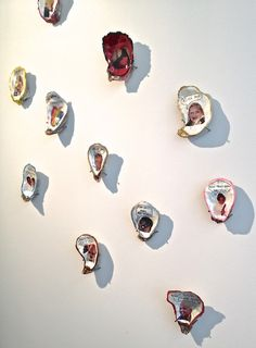 Oyster art by Thomas Mailaender at RVB Books gallery. BT.
