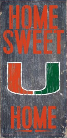 "Is your home a Miami Football Home? Then you need this sign. This Miami sign is perfect for displaying around the home. It includes a piece of rope attached to the back for hanging. The sign is 6""x12"""