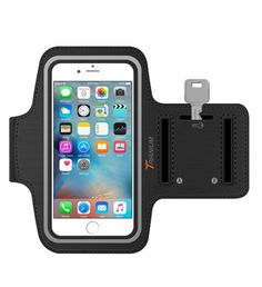 An armband that will free up your hands and doubles as a key holder.