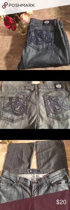 Rock & republic jeans Rock & republic jeans size 28 , slight bootcut (8' opening) waist 16' inseam 28' rise 7' Rock & Republic Jeans