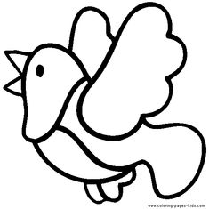 simple to color bird color page coloring pages for kids animal coloring pages coloring pages for kids thousands of free printable coloring pages for - Bird Pictures To Color