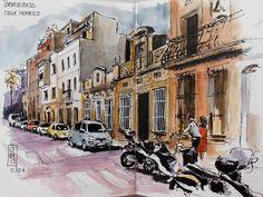 Urban Sketchers Spain. El mundo dibujo a dibujo.: Barcelona, barrios Putxet y Vallcarca
