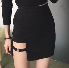 """Shirt Color:black one size Skirt Color : black Size:S.M.L. Size S: Length:40cm/15.60"""".Waist:62cm/24.18"""".Hip:84cm/32.76"""". Size M: Length:41cm/15.99"""".Waist:66cm/25.74"""".Hip:88cm/34.32""""."""