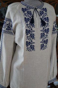 Ukraine, from Iryna Embroidery On Kurtis, Hand Embroidery Dress, Folk Embroidery, Hand Embroidery Designs, Cross Stitch Embroidery, Embroidery Patterns, Polish Embroidery, Khadi Kurta, Frock Patterns
