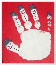Je eigen handtekening op een kerst kaart. Met leuke sneeuwpoppetjes. Hoe persoonlijk, simpel en creatief bedacht.