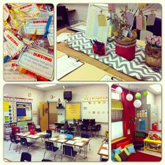 """""""Meet-the-teacher"""" or """"Back-to-school night"""" ideas and materials! I love the cute runner for the sign in table and putting the class list in a picture frame! Back To School Night, 1st Day Of School, Beginning Of School, Too Cool For School, School Fun, School Stuff, School Ideas, Kindergarten Classroom, School Classroom"""