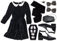 And because I had to, Wednesday Addams. I don't think I'd wear it without looking Amish, but, Goth staple!