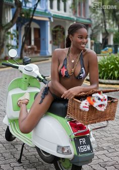 Damaris Lewis - Sports Illustrated Swimsuit 2011 Location: Sentosa Island, Singapore, Capella Singapore Hotel Swimsuit: Swimsuit by Debbie Wilson for Maui Girl Photographed by: Steve Erle Jessica Szohr, Jessica White, Vespa Girl, Lambretta Scooter, Ebony Women, Irina Shayk, The Most Beautiful Girl, Sports Illustrated, Scooters