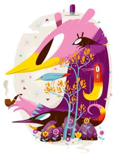 Alive Poster illustration by Christian Lindemann, via Behance