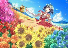 Anime Flower, Anime Summer, Herbs Indoors, Garden Fencing, Diy Garden Decor, Garden Inspiration, Flower Pots, Art Reference, Digital Art