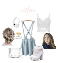 """""""Alice goes shopping"""" by cute-n-sweet ❤ liked on Polyvore featuring TARA Pearls, Chanel, Noir and Sony"""