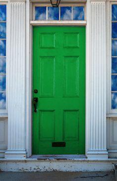 Brightly Colored Door - Green Door