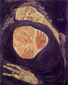 Egon Schiele ~ Schizzo per un Autoritratto.. | Le lettere | Tutt'Art@ | Pittura * Scultura * Poesia * Musica |