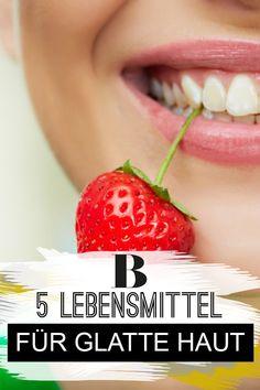 Glatte Haut durch gutes Essen: 5 Lebensmittel, die es in sich haben. Deine Haut kann durch die richtige Ernährung deutlich straffer und sanfter werden - diese Lebensmittel unterstützen dich dabei!