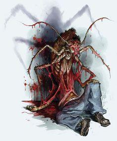 New Mutant Monday - Infectious Metamorphic Horror Monster Concept Art, Fantasy Monster, Monster Art, Alien Creatures, Fantasy Creatures, Mythical Creatures, Arte Horror, Horror Art, Creepy Horror