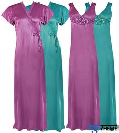 LADIES SATIN LACE LONG NIGHTDRESS NIGHTY CHEMISE LACE DETAILED SIZE 8-14