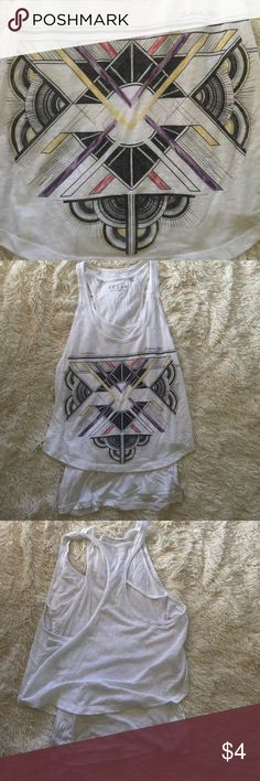Guess Graphic Tank This double layer tank has amazing graphics on the front. One small snag in the front of the first layer. Guess Tops Tank Tops