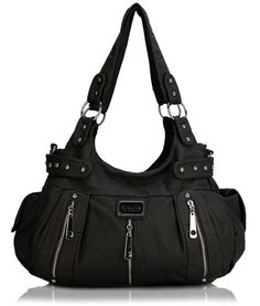 e2bac97197 Scarleton 3 Front Zipper Washed Shoulder Bag - Fashion for Women. Find this  Pin and more on Bags by myrrhshop. Ultra soft synthetic vegan leather ...