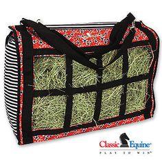 Classic Equine Hay Bag - Flower Stripes