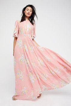 2059827b11 Slide View 1: Wildflowers Maxi Dress Free People Dress, Pink Dress, Rose  Dress