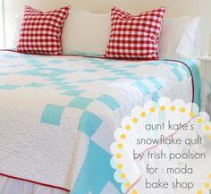 Aunt Kate's Snowflake Quilt « Moda Bake Shop