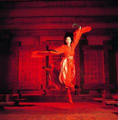 "Hero, a Chinese martial arts film, was the first movie that Russel worked together with director Zhang Yimou. The shoot was done in a film studio near Shanghai. Russel loves Zhang's sets, ""as they are always very painterly"". Chinese Movies, Pablo Picasso, Zhang Ziyi, Dancing In The Moonlight, Chinese Martial Arts, Martial Arts Movies, Hero Movie, Red Lantern, Beauty"