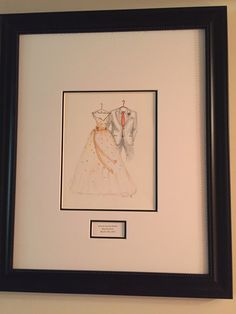 A very happy wife sent me her framed sketch from her husband on their wedding day. www.MyDreamlines.com