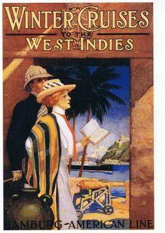 1911 Hamburg-American Cruise Line  West Indies