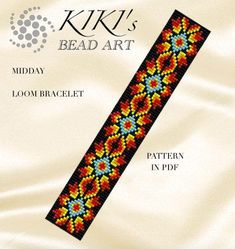 Look at the webpage to learn more about loom patterns Loom Bracelet Patterns, Bead Loom Bracelets, Bead Loom Patterns, Beaded Jewelry Patterns, Beading Patterns, Motifs Perler, Beadwork Designs, Beading Techniques, Tear