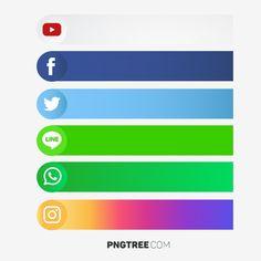 Social Media Buttons, Social Media Banner, Social Icons, Social Media Logos, Social Png, Instagram Logo, Icon Design, Web Design, Resume Design
