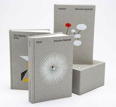 Malcolm Gladwell box set (Paul Sahre designed/Brian Rea illustrated)