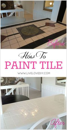 to paint tile countertops! This is SO great for outdated kitchens and bathrooms. So glad I found this!How to paint tile countertops! This is SO great for outdated kitchens and bathrooms. So glad I found this! Diy Mod Podge, Tile Counters, Kitchen Countertops, Painting Tile Countertops, Paint Tiles, Kitchen Backsplash, Dark Counters, Cocina Diy, Diy Home Decor Rustic