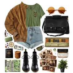 A fashion look from June 2013 featuring Levi's shorts and Dr. Martens ankle booties. Browse and shop related looks.