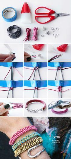 DIY Fishtail Braid Friendship Bracelet. Piceture & video tutoirals--> http://wonderfuldiy.com/wonderful-diy-fishtail-braid-friendship-bracelet/