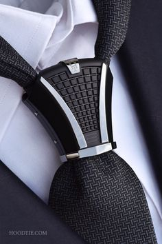 home Hoodtie Limited Edition - An exceptional handmade titanium tie jewel - A new style game for the most daring . Hoodtie Limited Edition - An ex. Mens Fashion Suits, Fashion Outfits, Fashion Trends, Fashion News, Men's Fashion, Style Costume Homme, Tie A Necktie, Style Masculin, Tie Accessories